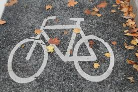 painted cycle on concrete